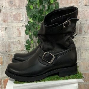 PRE OWNED Frye Veronica Short Leather Slouch Boot